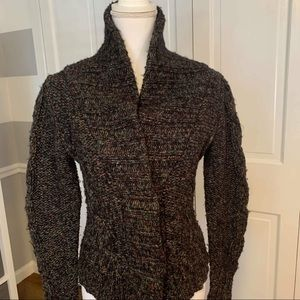 Anthro One Girl Who Speckled Chunky Knit Sweater S